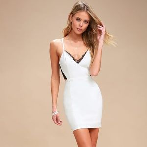 """Lulus """"Heartbeat Song"""" Backless Lace Dress"""